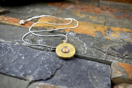 20 Gauge Winchester Brass Bullet Necklace