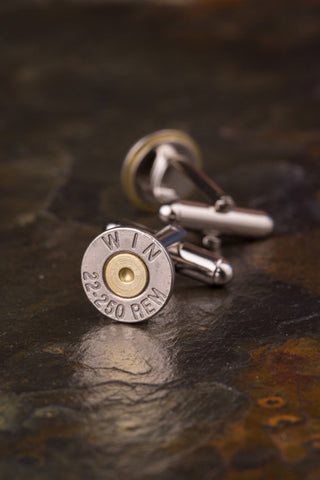 Winchester 22-250 Bullet Cuff Links