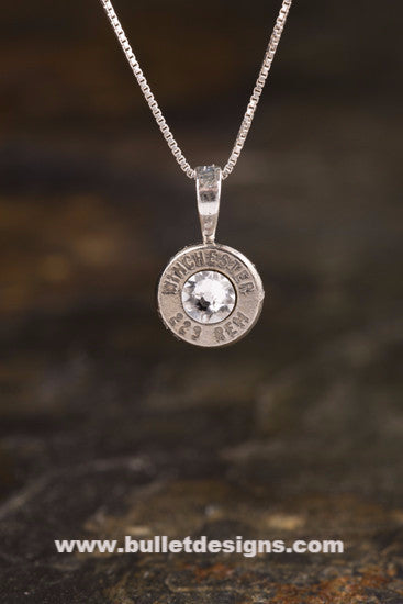 223 Sterling Silver Bullet Head Necklace