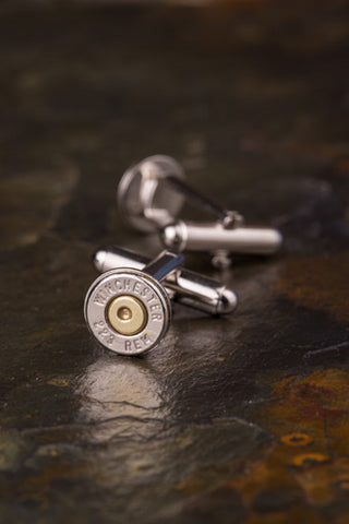 Winchester 223 Bullet Cuff Links AR-15