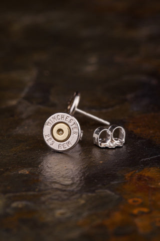 223 Bullet Head Stud Earrings