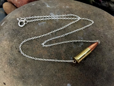 22 Caliber Bullet Casing Choker Necklace
