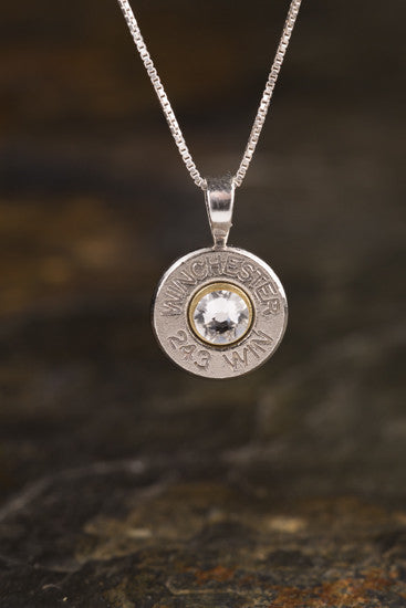 243 Sterling Silver Bullet Head Necklace