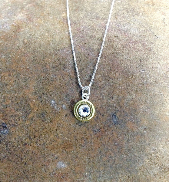 25 Auto Bullet Head Sterling Silver Necklace