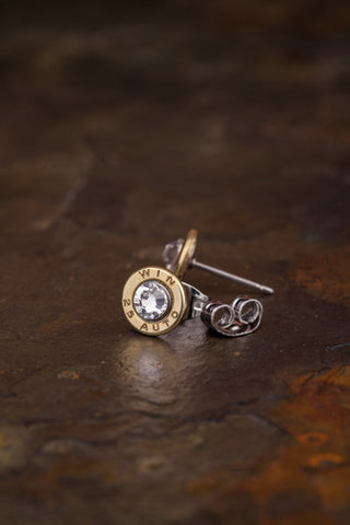 25 Auto Bullet Head Stud Earrings