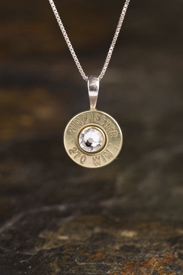270 Sterling Silver Bullet Head Necklace