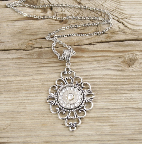 Filigree Diamond Bullet Necklace