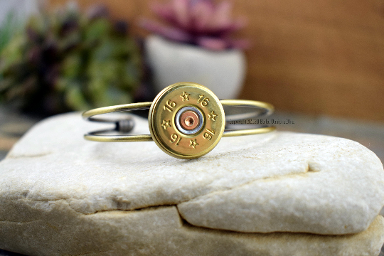 28 Gauge Shotgun Adjustable Cuff Bracelet