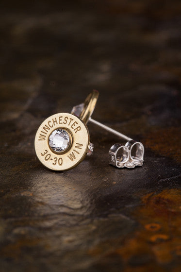 30-30 Bullet Head Stud Earrings