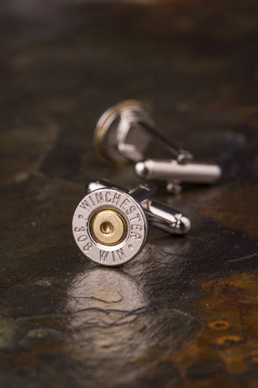 Winchester 308 Thin Bullet Cuff Links