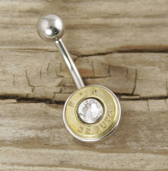 32 Auto Brass Bullet Belly Ring