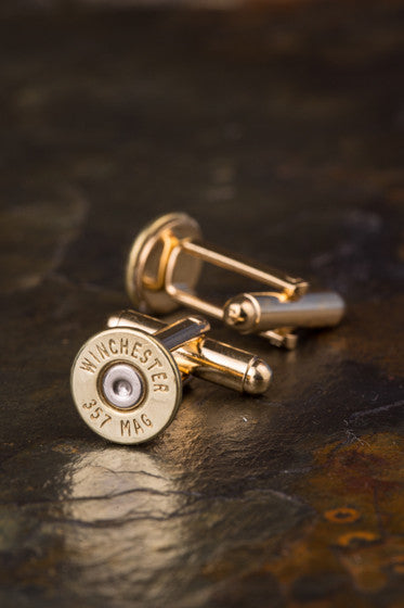 Winchester 357 Magnum Thin Bullet Cuff Links