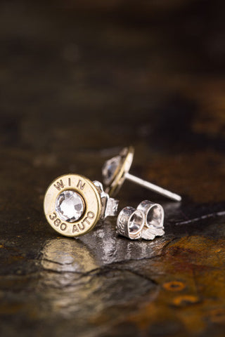 380 Auto Bullet Head Stud Earrings