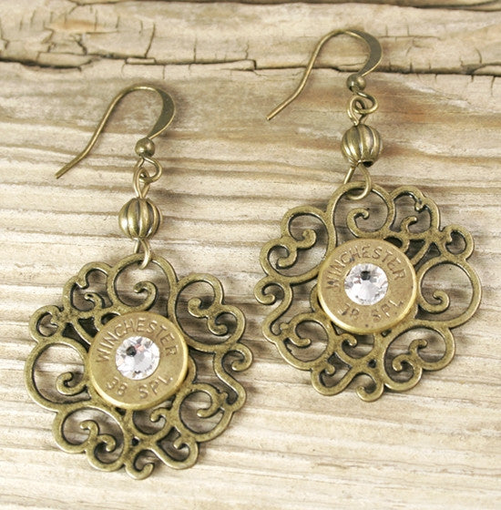 38 Special Dainty Bronze Flowery Earrings