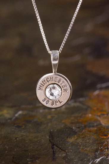 38 Special Sterling Silver Bullet Head Necklace