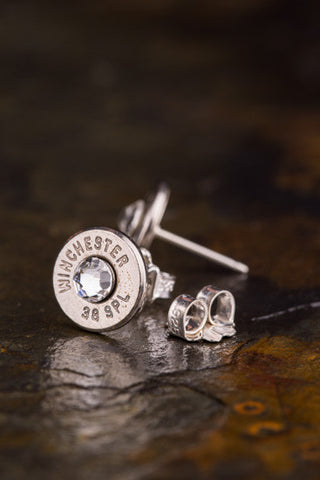 38 Special Bullet Head Stud Earrings