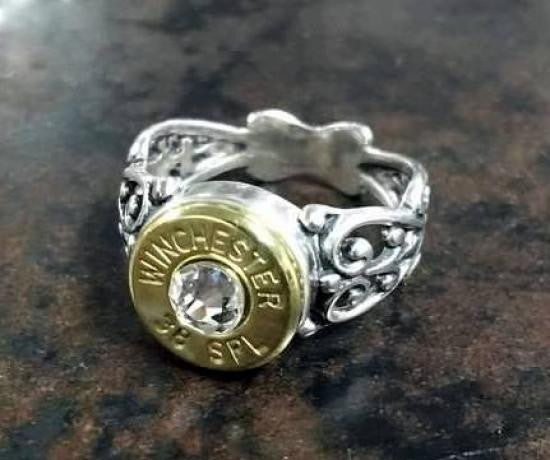 38 Special Sweetheart Antique Sterling Silver Bullet Ring Bullet Jewelry