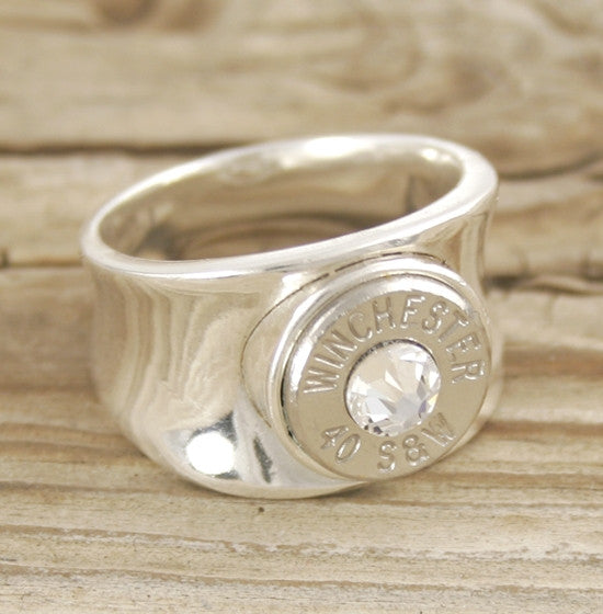 40 Caliber Concave Bullet Ring