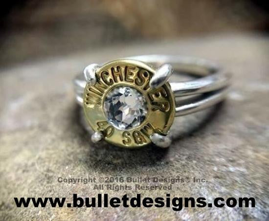 40 Caliber Sterling Silver Bullet Ring