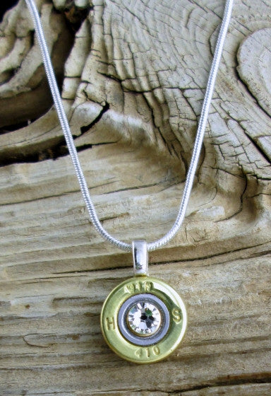 410 Gauge Brass Shotgun Shell Bullet Necklace