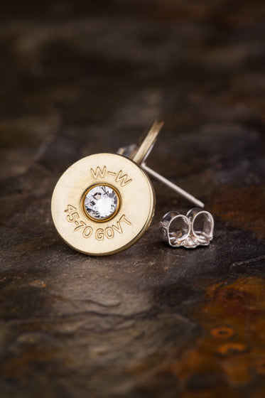 45-70 Bullet Head Stud Earrings