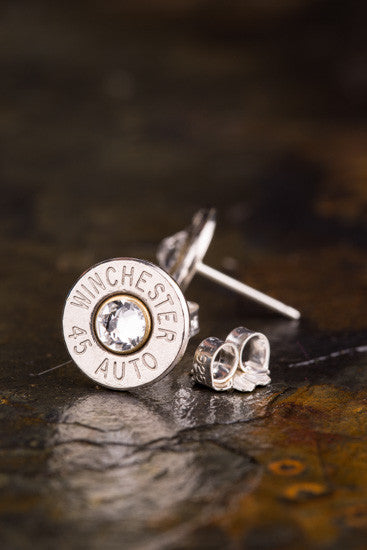 45 Auto Bullet Head Stud Earrings