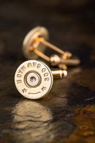 500 Magnum Thin Brass Bullet Cufflinks