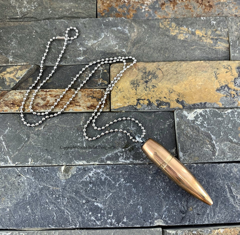 50 Caliber Bullet Only Necklace, Bullet Jewelry