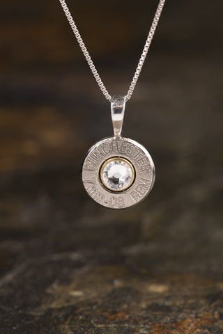 7mm-08 Sterling Silver Bullet Head Necklace