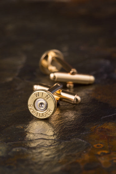 9mm Pistol Bullet Cuff Links