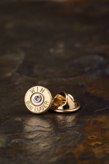 9mm Bullet Tie Tac Hat Pin