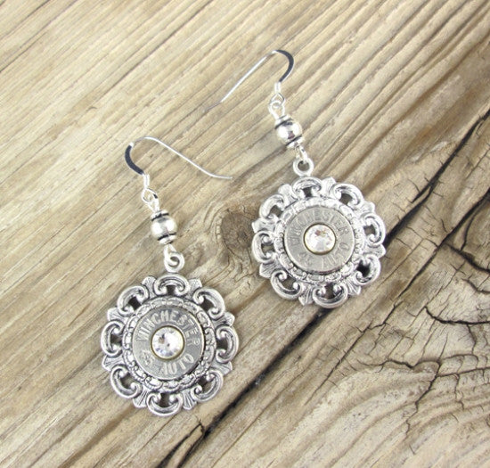 Antique Filigree Bullet Earrings