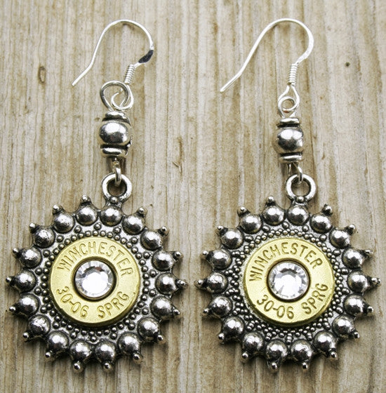 Antique Sunshine Bullet Earrings