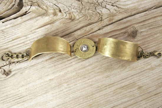 Brass 30-06 & 12 Gauge All Bullet Bracelet