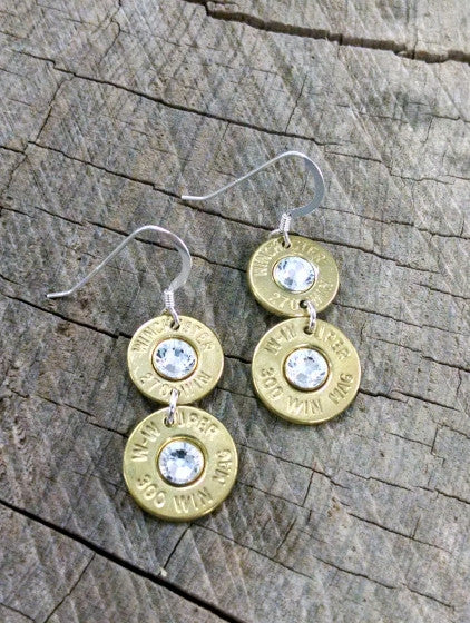 Double Barrel Bullet Earrings  Bullet Jewelry