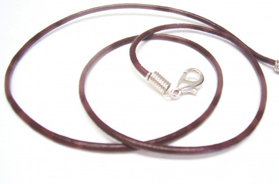 "2mm 18-20"" Brown Leather Cord"