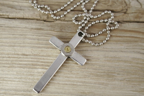 Bullet Cross Necklace for Men