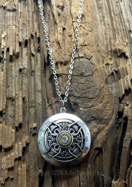Bullet Locket Diffuser Necklace 25 Auto Celtic Aromatherapy