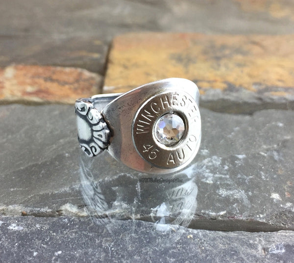 NEXT AVAILABLE SHIPPING DATE IS 7/30/18 FOR THIS PRODUCT   Bullet Spoon Ring Bullet Jewelry