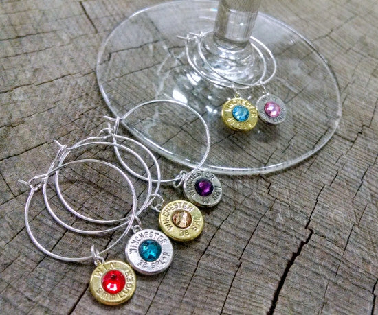 Bullet Wine Glass Charms