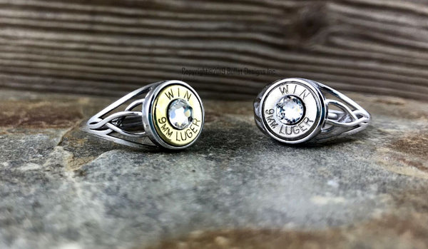 Bullet Ring Celtic Adjustable, 9mm
