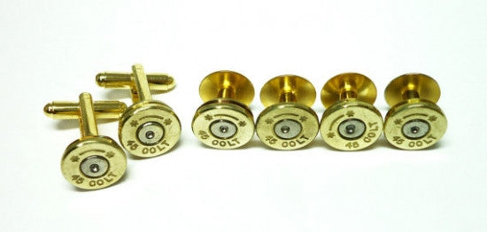 Bullet Cufflinks and Tuxedo Studs Set