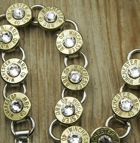 Custom Bullet Tennis Bracelet in Brass
