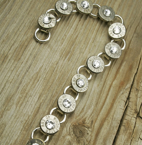 Custom Bullet Tennis Bracelet in Nickel