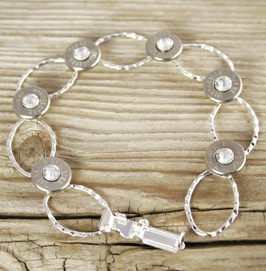 Dainty Silver Plated Chain Bullet Bracelet