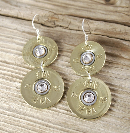 Double Barrel Shotgun Earrings