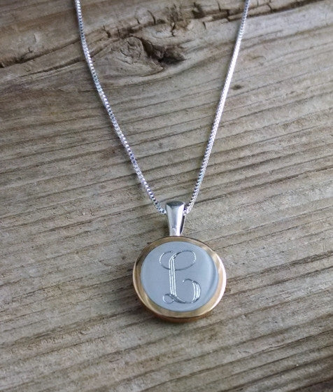 Engraved 50 Caliber Sterling Silver Necklace