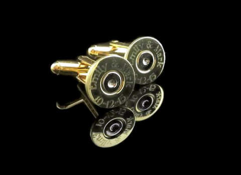 Colt 45 Engraved Brass Bullet Cufflinks