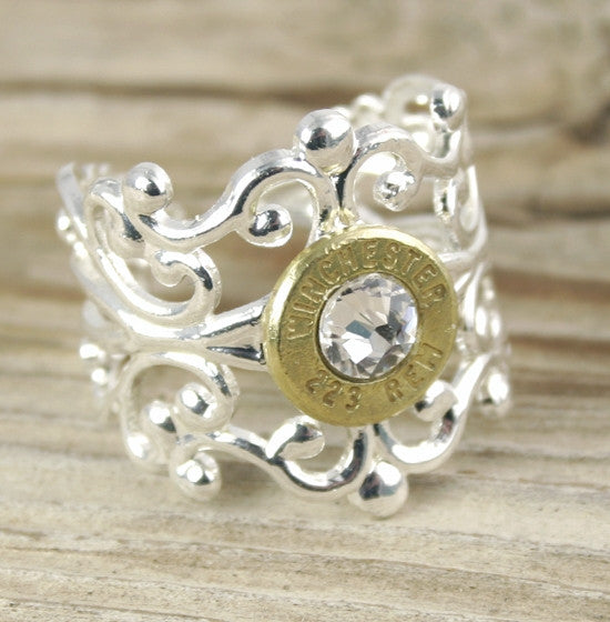Bullet Ring Filigree Adjustable