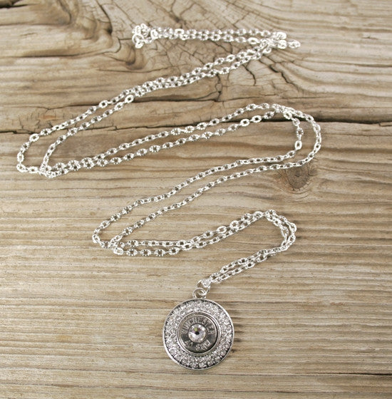 40 Caliber Fire & Ice Long Bullet Necklace